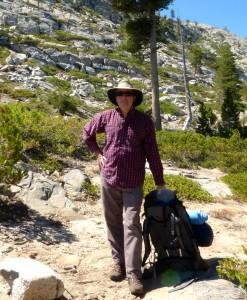 At Lake Branigan, bushwacking in Yosemite
